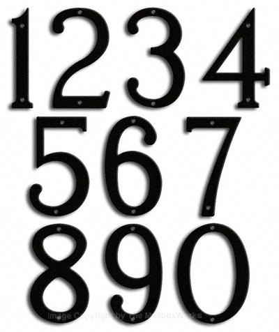Medium Black House Numbers Majestic 8