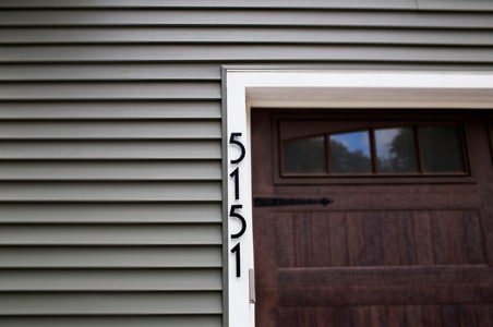 Majestic Noble House Numbers Installed