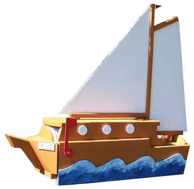 Woodendipity Style Sail Boat Novelty Mailbox
