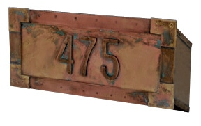 Streetscape Executive Mail Slot Address Numbers