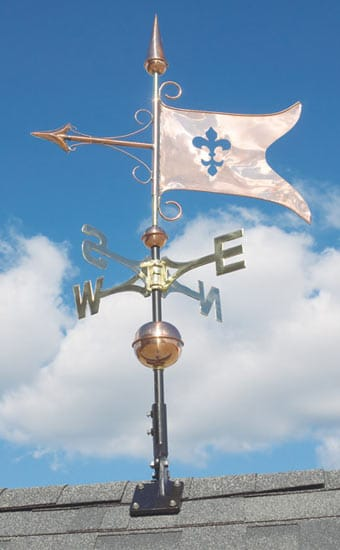 Whitehall Copper Banner Classic Weathervane