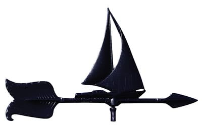 Whitehall 24 Inch Sailboat Accent Weathervane