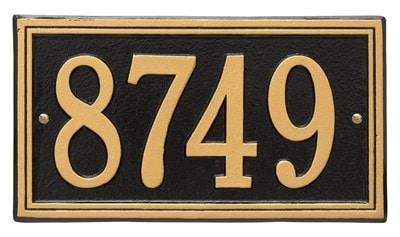 whitehall double line address plaque