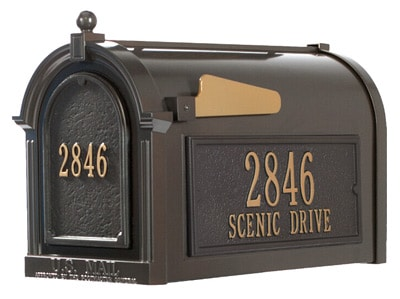 whitehall decorative post mount mailboxes - Decorative Mailboxes