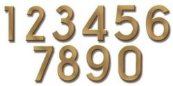 Ecco Brass House Numbers