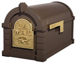 Gaines Keystone Decorative Post Mount Mailbox