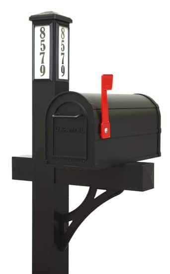 Brightlight Solar Mail Mailbox and Post
