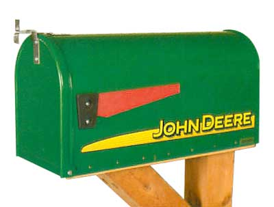 Distel Grain Mailboxes John Deere