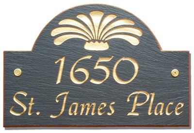 Stone Mill Slate Address Plaques