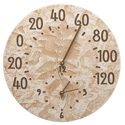 Whitehall Outdoor Clock Thermometer