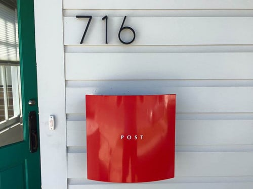 Knobloch Hollywood Red Mailbox Installed
