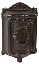 AMCO Colonial Wall Mount Mailbox Bronze