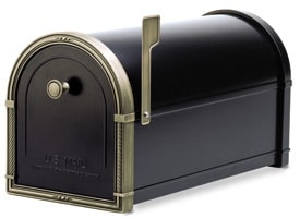 Coronado Mailbox Black Antique Bronze