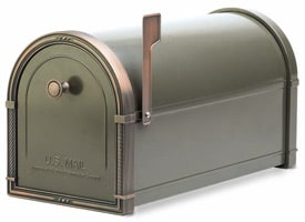 Coronado Mailbox Bronze Antique Copper