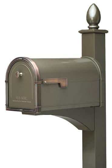 Coronado Mailbox with Deluxe Post