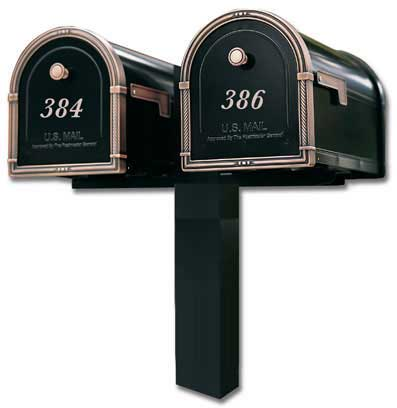 Architectural Coronado Mailboxes Dual Standard Post