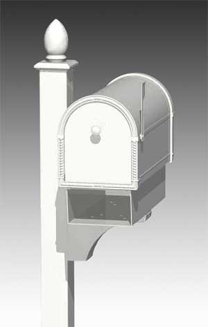 Newspaper Holder for Coronado Mailboxes