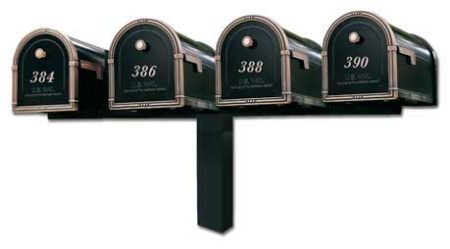Architectural Coronado Mailboxes Quad Standard Post