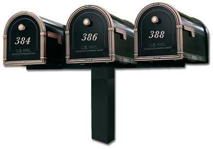 Architectural Coronado Mailboxes Tri Standard Post