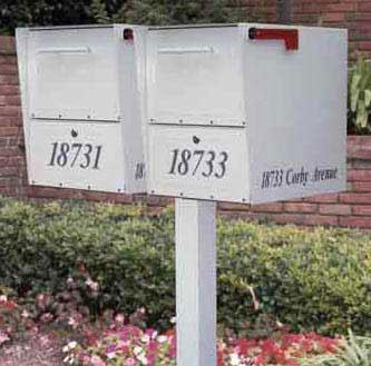 Medium Oasis Mailboxes Dual Standard Post