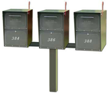 Medium Oasis Mailboxes Tri Standard Post