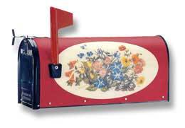 Bacova Oval Wildflowers 15093 Burgundy Background