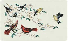 Bacova Mailbox Triple Songbirds 10023