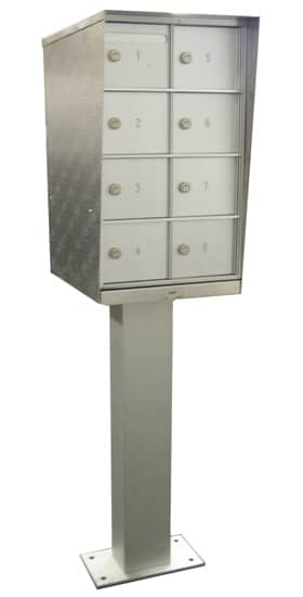 Bommer 8 Door Commercial Cluster Mailboxes