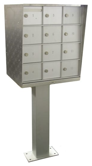Pedestal 12 Door Cell Phone Lockers