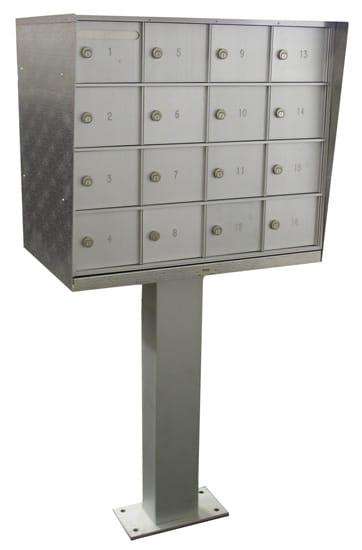 Pedestal 16 Door Cell Phone Lockers