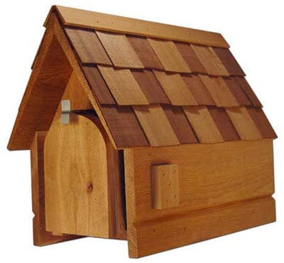 New England Cedar Mailbox Wood Post