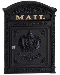 Ecco 6 Wall Mount Mailbox Black