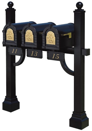 Gaines Keystone Mailboxes Tri Mount Post