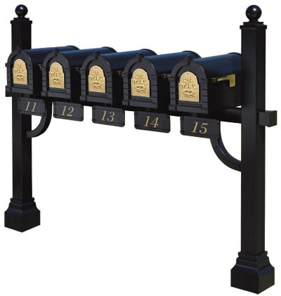 Gaines Keystone Mailboxes Pentad Mount Post