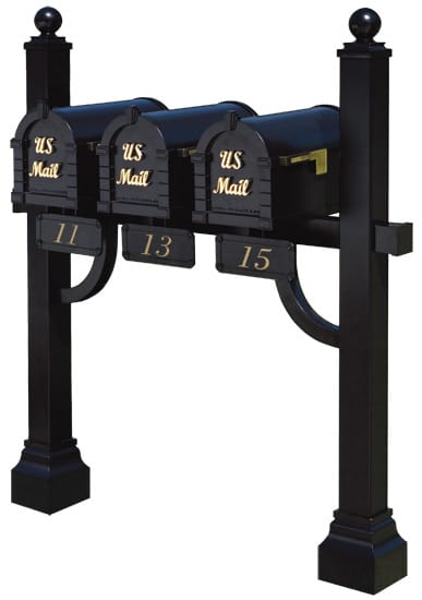 Keystone Signature Mailboxes Tri Mount Post