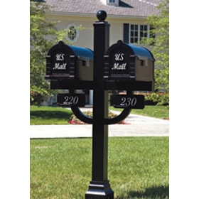 Signature Keystone Mailboxes Double Deluxe Post