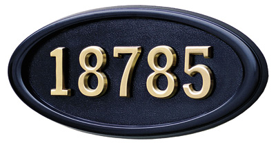 Gaines Large Oval Wall Address Plaque