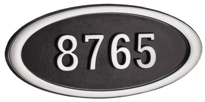 Gaines Large Oval Plaque Satin Nickel