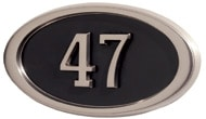 Gaines Small Oval Black Satin Nickel