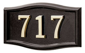 Gaines Small Roundtangle Wall Address Plaque