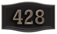 Gaines Small Roundtangle Black Bronze Numbers