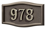 Gaines Small Roundtangle Bronze Nickel Numbers