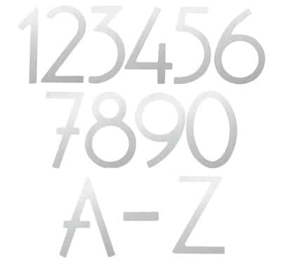 HouseArt Silver House Address Numbers Letters