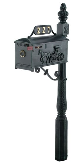 Imperial 227 Mailbox and Post