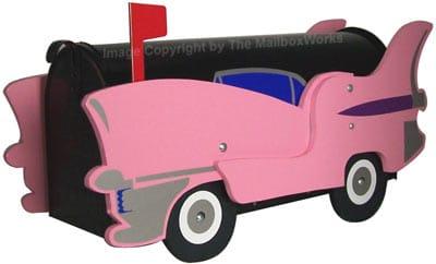 Pink Cadillac Novelty Mailbox