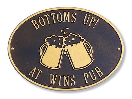 Whitehall Beer Mugs Hawthorne Address Plaque