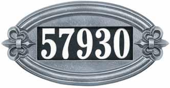 Whitehall FleurDeLis Oval Illuminator Address Plaque