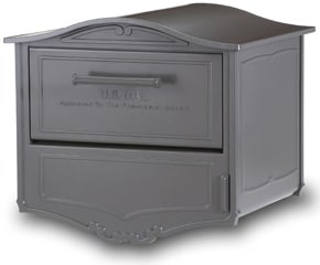 Geneva Locking Post Mount Mailbox Bronze