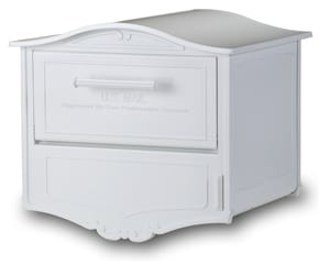 Geneva Locking Post Mount Mailbox White
