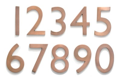 Laguna Antique Copper Address House Numbers